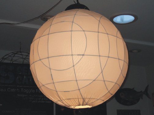 Wire Sphere Lamp with stretch fabric