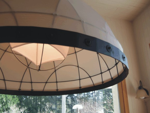 Wire Dome Lamp Details